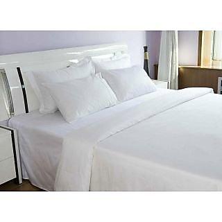 Valtellina     Cotton  white  King Size  Bed sheet 108 X108 inch (HTL-003_3)