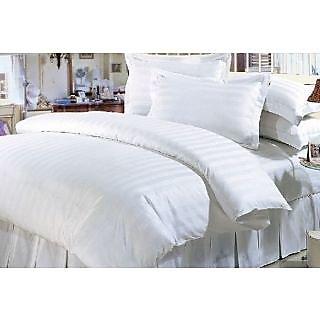 Valtellina   Herbal  Cotton white  King Size Bedsheet 100 X108 inch (HTL-002_6)