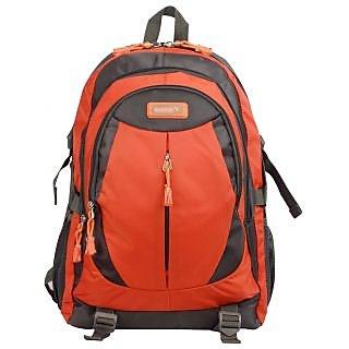 Safari Chase Grey-Orange Laptop Backpack