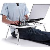 Portable Laptop Stand Foldable ETable With 2 USB Cooling Fans
