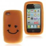 Funny Smile Pattern Soft Hamburger Case With Enticing Flavor For Iphone 4 4s