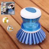 2 In 1 Tablewares Creative Cleaning Brush With Box For Cleaning Fuid (blue&white)