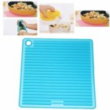 Creative Anti-slip And Heat-insulated Safe Quadrate Mat For House Use (blue)