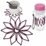 Convenient And Multi-purpose Silicone Heat-insulated Cup Cover Riser Pad (purple)