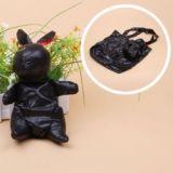 Vivid Color Foldable Rabbit Shape Shopping Bag Environmental Bag With Key Chain Black