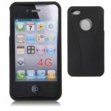 Stylish Two-color Tone Matte Click On Case For Iphone 4 4s (black)