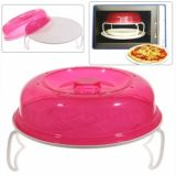 Portable Microwave Oven Layered Plate For Home And Office Life (pink)