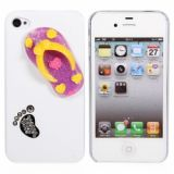 Funny Slipper Design Protective Plastic Hard Back Case Cover For Iphone 4 4s (white)