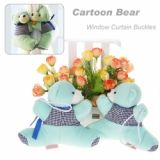 A Pair Of Cartoon Bear Curtain Tieback Window Curtain Buckles