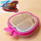 Multi-functional Kitchen Stainless Steel Apple Shape Blade Vegetable Fruit Cutter Slicer - Plum