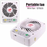 Gt825 Portable Mini Fan Charging By Usb Connector/ Car Charger Etc - White