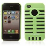Musobo Double-layers And Microphone Design Protective Case For Iphone 4 4s - Green