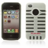 Smart Double-layers And Microphone Design Protective Case For Iphone 4 4s (gray)