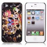 Lustrous One Piece Patterned Hard Plastic Back Case For Iphone 4/4s (earthy)
