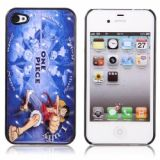 Lustrous One Piece Luffy Patterned Hard Plastic Back Case For Iphone 4/4s (blue)