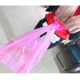 Shopping Bag Multi Purpose One Trip Grip Soft Handle 2pcs Pink