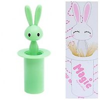 Eco-friendly Hot Sale Rabbit Pattern Toothpick Holder For Home(Green)