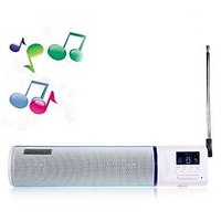 Music Angel Portable Speaker Box For MP3/ MP4 Player/ Mobile Phone/ FM Loudspeaker (PO-8140) - Light Blue