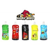SET OF FIVE  Angry Birds Folding,foldable,freezable and Reusable water bottle for kids for school, tution, camping ,sports gift item.