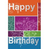 GreetZAP Voice Card: Birthday Wishes - Vibrant [Large Card]