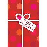 GreetZAP Voice Card: Birthday Wishes - Polka Dots [Large Card]