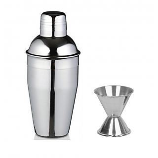 2 piece Bar set (Large) - Delux cocktail shaker and peg measure