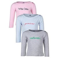 Goodway Infants Baby Girl Nick Name - 1 Combo Pack of 3 T-Shirts  12-18  M