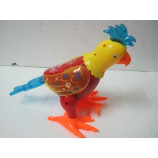 UNIQUE- BATTERY OPERATED COLORFUL PARROT TOY- WALK WITH LIGHT & MUSIC -FREE SHIP
