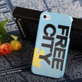 Uncommon Free City Pigeon Pattern Hard Plastic Case For Iphone 4 4s (blue)