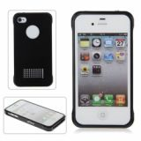 Speedq Luxurious Design Metal Protective Hard Bumper And Back Case For Iphone 4 4s (black)