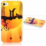 Innovative Lustrous Surface Comic Pattern Hard Plastic Back Case With Transparent Frame For Iphone 4/4s