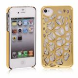 Trendy Bird Nest Design Woven Electroplate Protective Hard Case For Iphone 4 4s (golden)