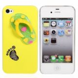 Funny Slipper Design Protective Plastic Hard Back Case Cover For Iphone 4 4s (yellow)