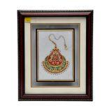 Jaipuri Style Painting On Marble Tile