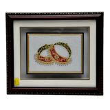 Beautiful Bangle Painting On Marble Tile