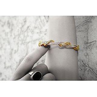 Erato Gold Plated CZ Sterling Silver Bracelet
