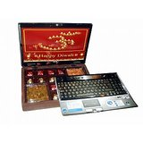 SEND DIWALI CHOCOLATES with 250 grams DRY FRUITS IN LAPTOP GIFT BOX for DIWALI