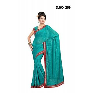 RAMA FIROJI FAUX CHIFFON PARTY WERE SAREE WITH BLOUSE(MF269)