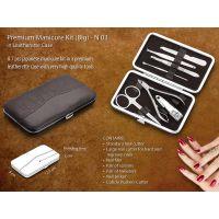Premium Manicure Kit in Leatherette Case 7 Pcs - Large