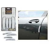 I-Pop Simple White Car Door Scratch Guard Protector Pack Of 4