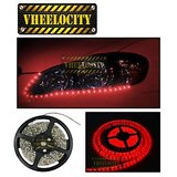 Vheelocity 5 Meters Waterproof Cuttable Led Lights Strip Roll Red Color Leds