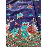 Kashmir Embroidered  High Quality  Purple Colour Self Cotton Dress Material With Matching Dupatta