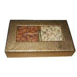 Gift Cashew Nuts Almonds Dry Fruits - 250 Gms On Diwali In Golden Box