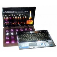 GIFT CHOCOLATES WITH CANDLE ON DIWALI IN LAPTOP GIFT BOX