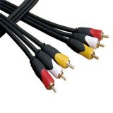 3rca To 3rca Pvc Video Av Cable Red/yellow/white Ends-10 Meters