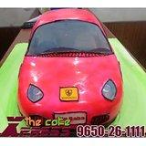 Red Ferrari Car Shape Cake-Delhi NCR