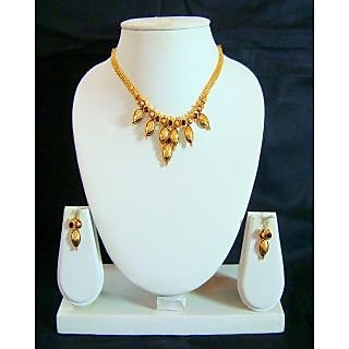 Diva Gold Plated Purple Necklace Set