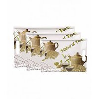 Unique Creations Melamine Trays Tea Pot Tray Set - 3 Pcs