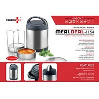 Power Plus Meal Deal Insulated SS Lunch Box (with Stainless Steel Containers) – 2 Containers
