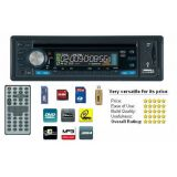 CAR STEREO WITH BUILT IN DVD PLAYER, USB, MP3 AND FM